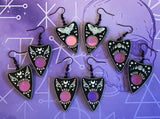 Ornate Planchette Earrings -  4 Designs
