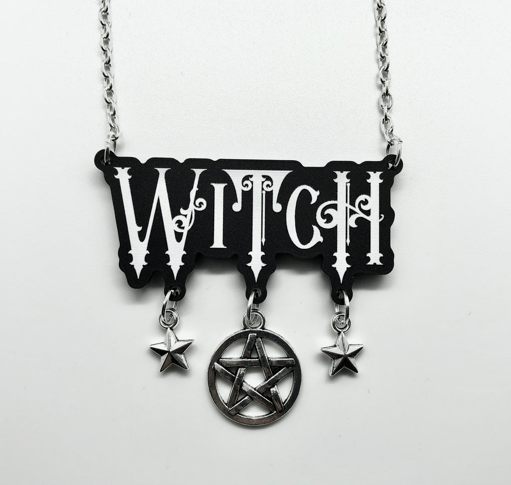 Witch Script Necklace