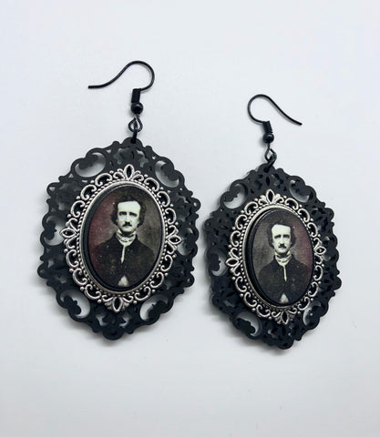 H P Lovecraft Cameo Earrings