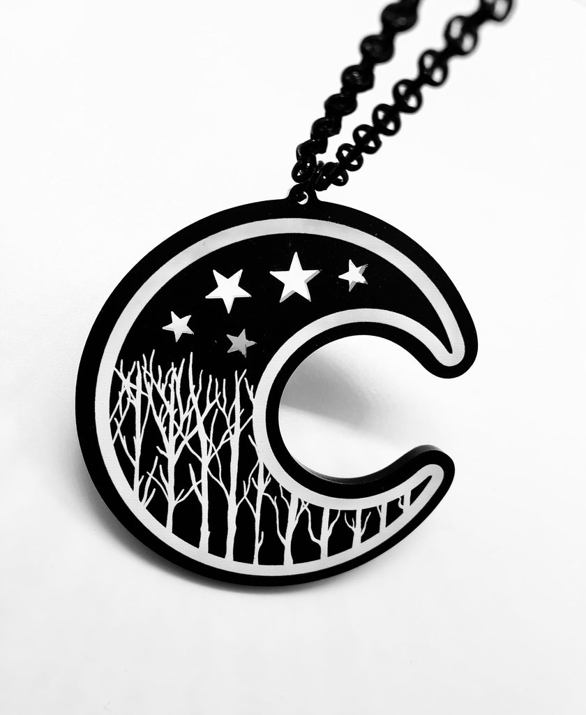 Winter Moon Necklace - Large