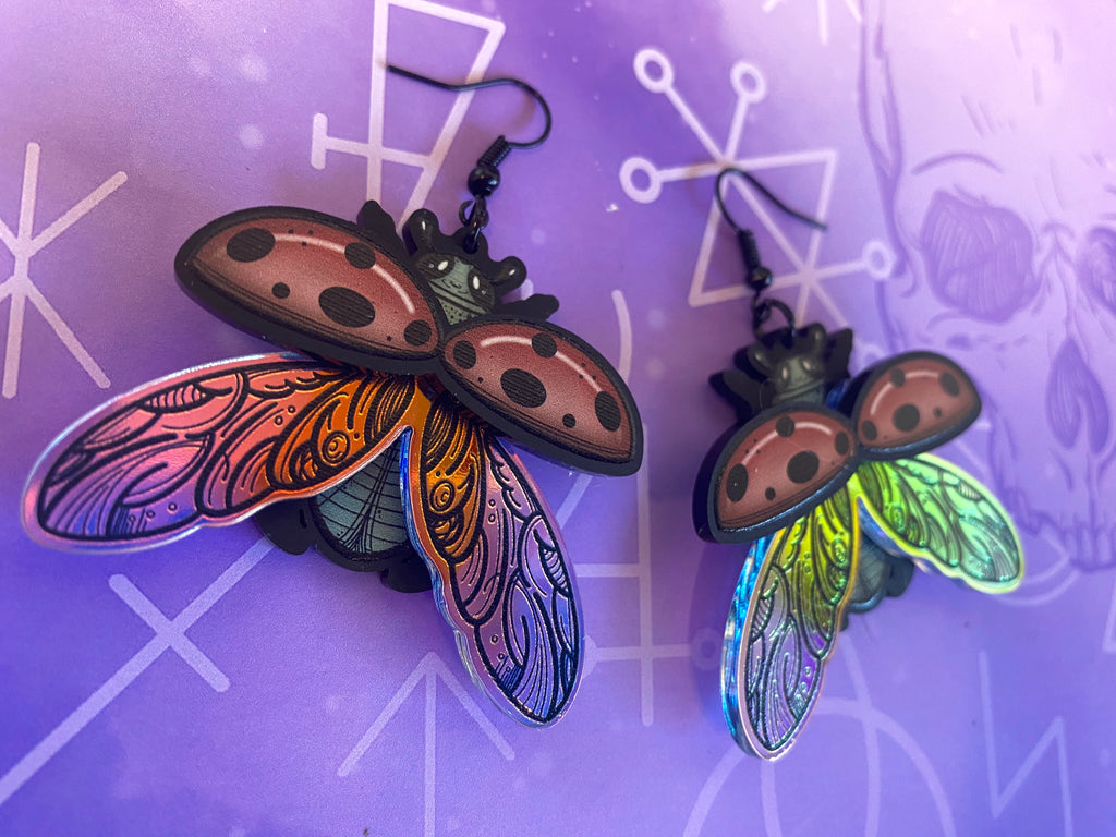 Layered Ladybird Earrings