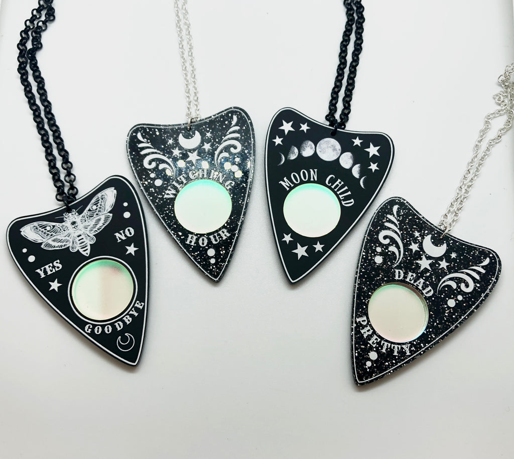 Ornate Ouija Planchette Necklace - 4 designs.