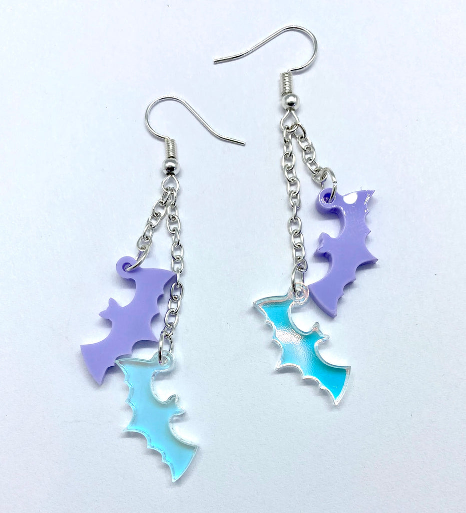 Charmed Earrings - Bats- 2 colour options