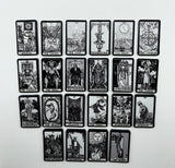 Tarot Pin Badges, Full Major Arcana, Colour or Black and White