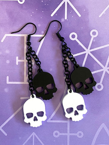 Baroque Ear Hoops - Black Surgical Steel