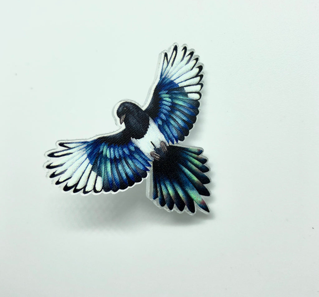 Magpie Pin Badge