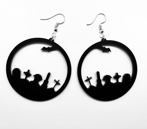 Cathedral Ear Hoops - Black Surgical Steel