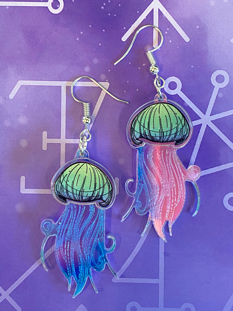 Layered Jellyfish Earrings