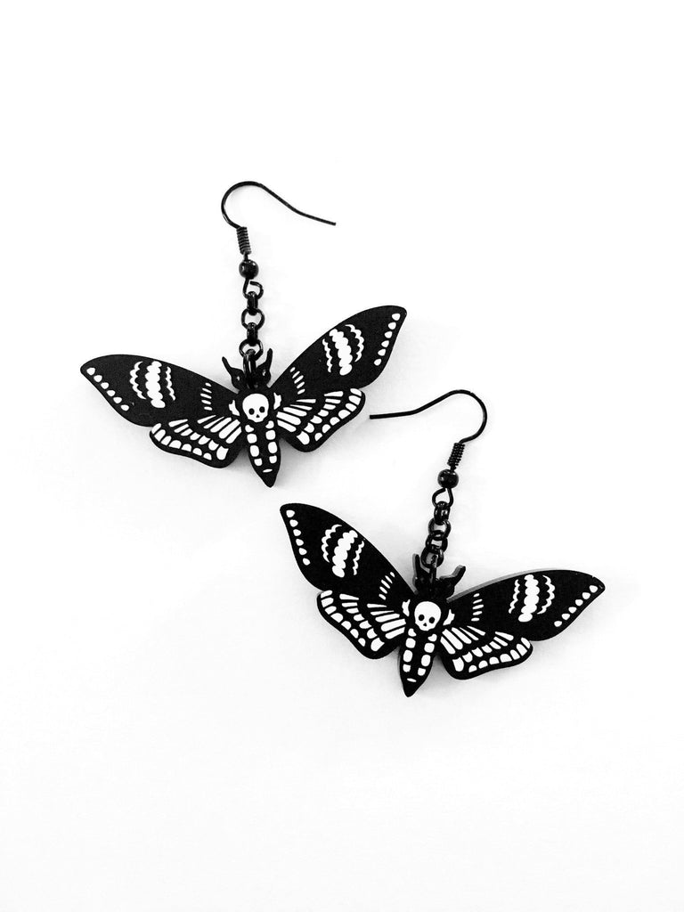 Deaths Head Moth Earrings