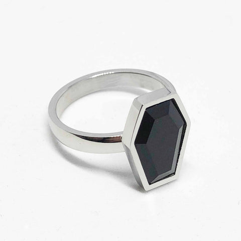 Honeycomb band ring - Sterling Silver