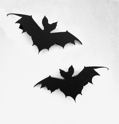 Skeletal Bat Hair Clips