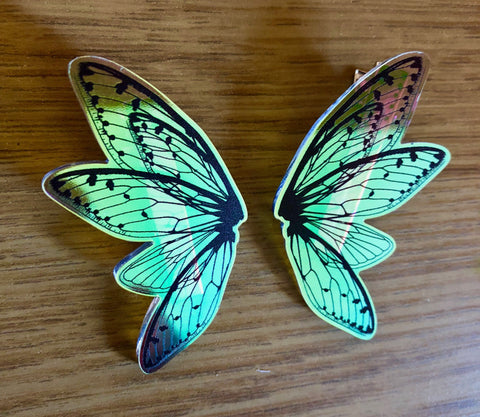Deaths Head Moth Hair Clips