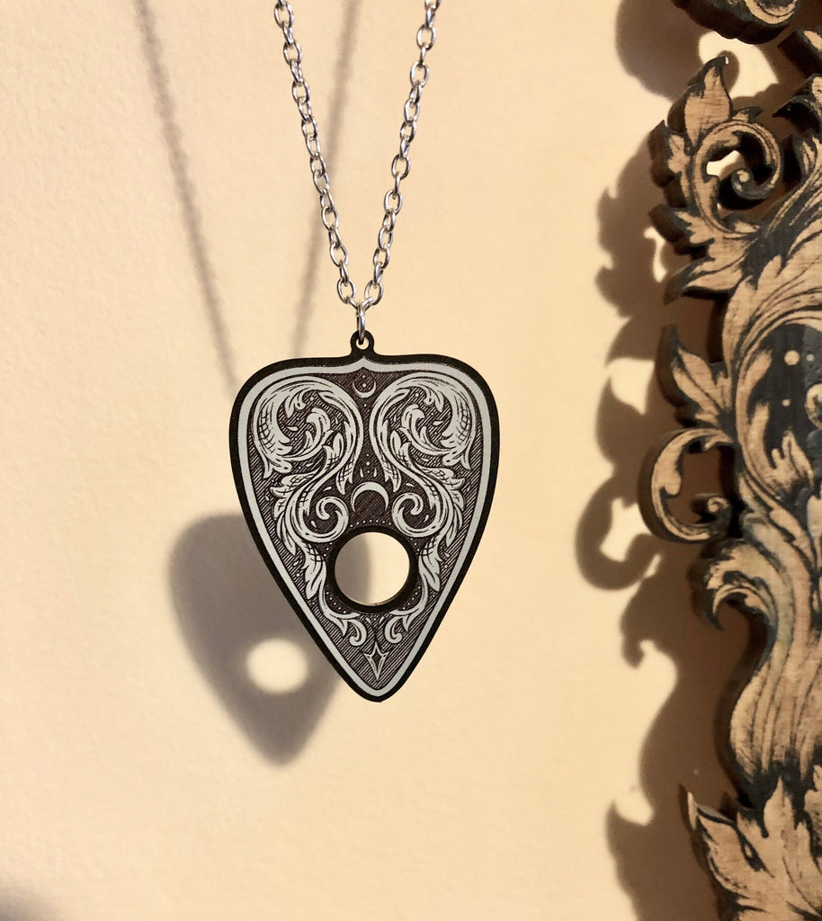 Filigree  Ouija Planchette Necklace