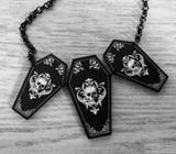 Ornate Coffin Trio Necklace
