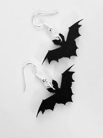 Demonic Sigil Earrings Silver