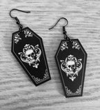 Ornate Coffin Earrings