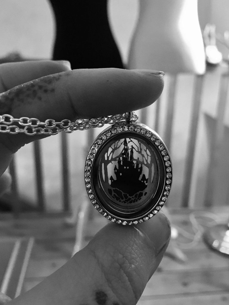 Tiny Transylvania Locket Necklace