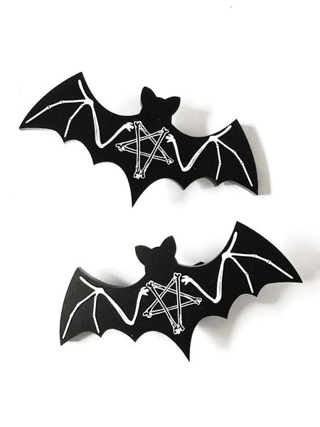 Black Magic Bats Hair Clips