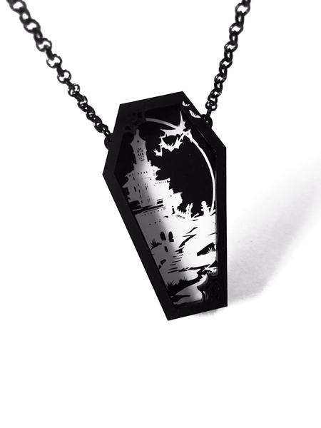 Dead by Dawn Coffin Layered Necklace