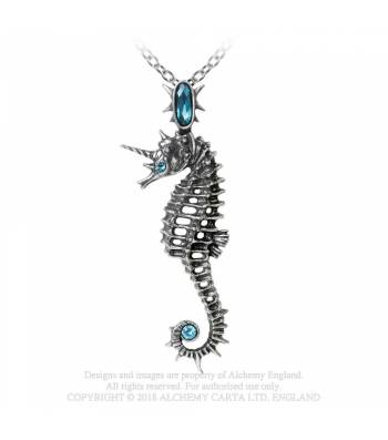 Alchemy Gothic Aequicorn Seahorse Necklace