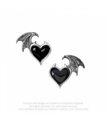Alchemy Gothic Blacksoul Ear Studs