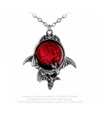 Alchemy Gothic Blood Moon Necklace