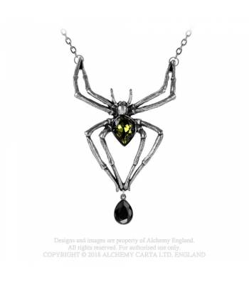 Emerald Venom Spider Necklace