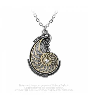 Alchemy Gothic Fibonacci's Golden Spiral Necklace