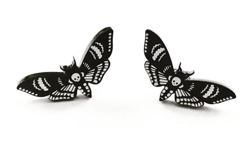 Flower Ear Hoops - Black Surgical Steel