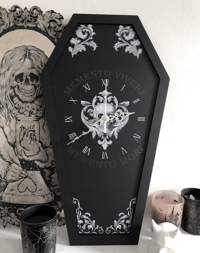 Memento Mori Coffin Clock