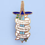 Jubly-Umph Fighting Invisible Battles Enamel Pin