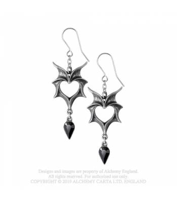 Alchemy Gothic Love Bats Earrings