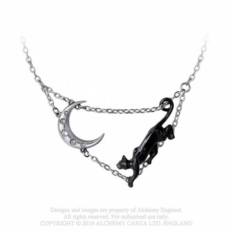 Tres Lunae Moon Necklace