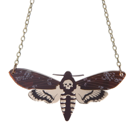 Sugar & Vice Deaths Head Hawkmoth Necklace
