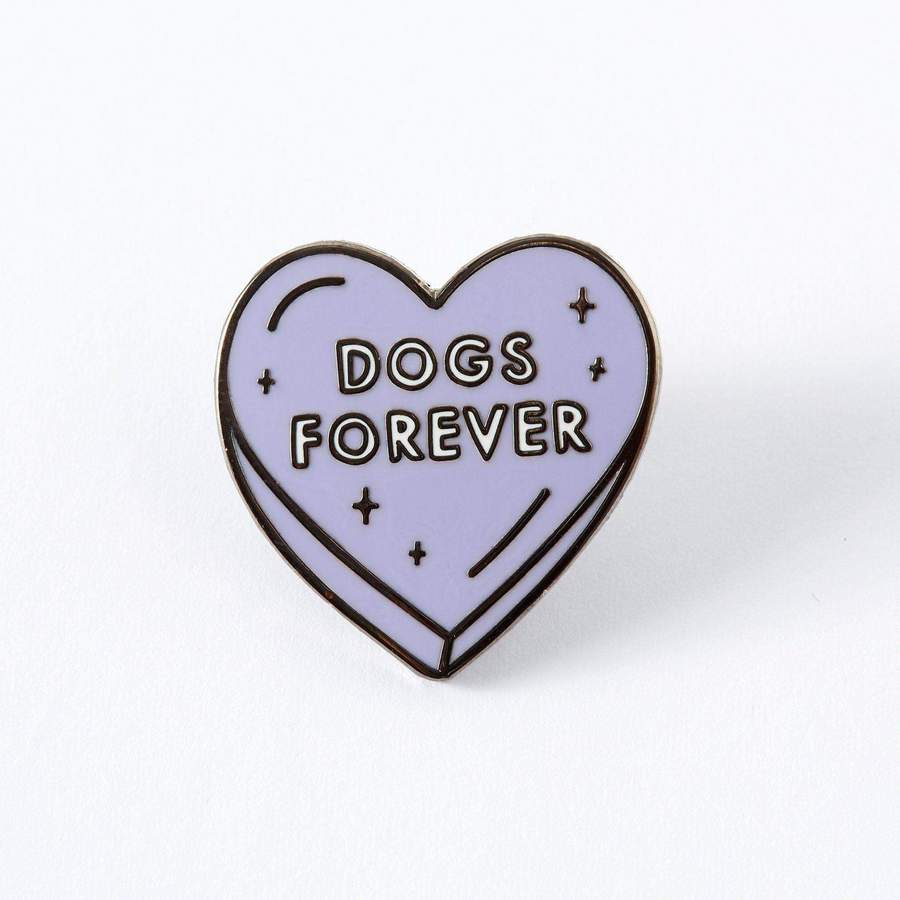 Dogs Forever Heart Enamel Pin