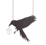 Raven and Skull Necklace
