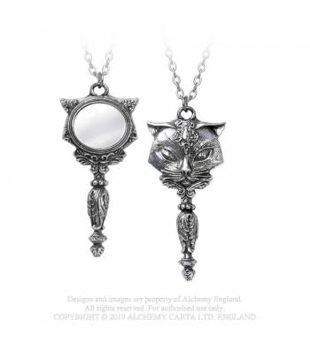 Alchemy Gothic Sacred Cat Necklace