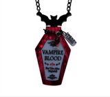 Vampire Blood Potion Bottle Necklace