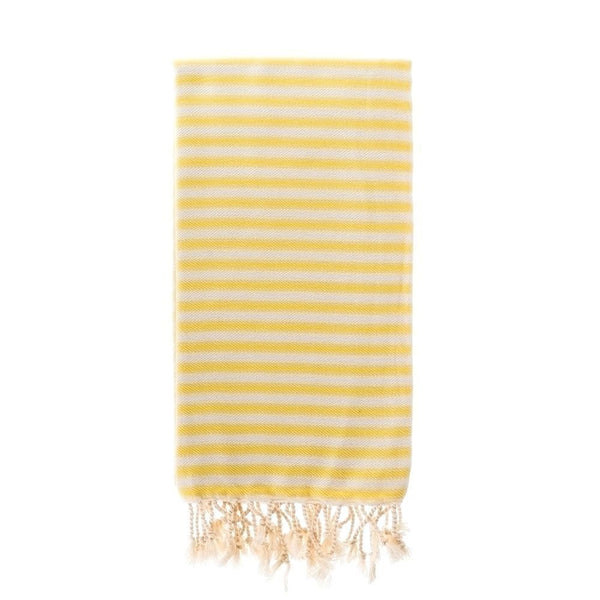 Capri Turkish Towel in Sunshine Yellow