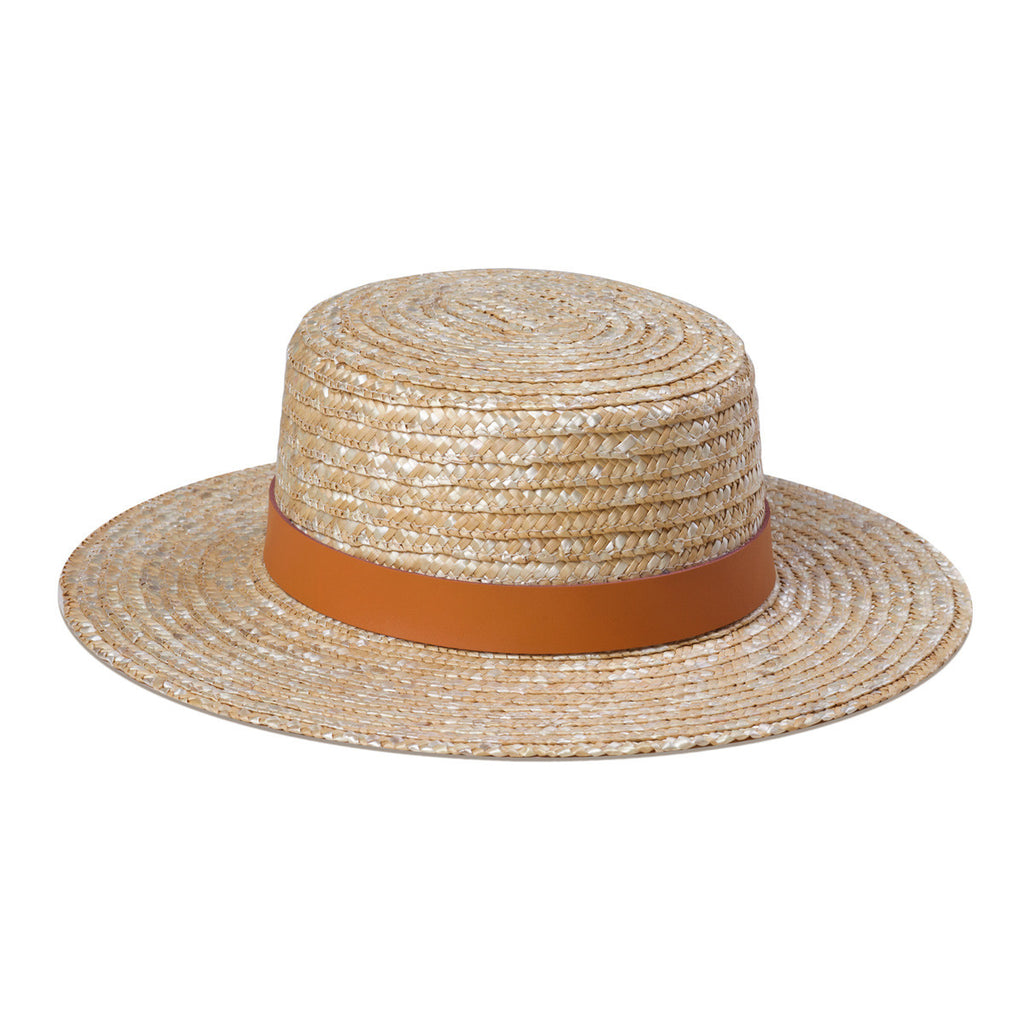 Spencer Boater Hat in Terracotta