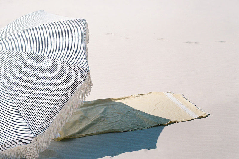 Sunday Supply Co. 'Natural Instincts' Striped Beach Umbrella
