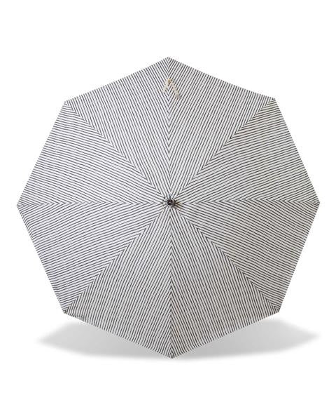 Sunday Supply Co. Blue and White Striped Beach Umbrella