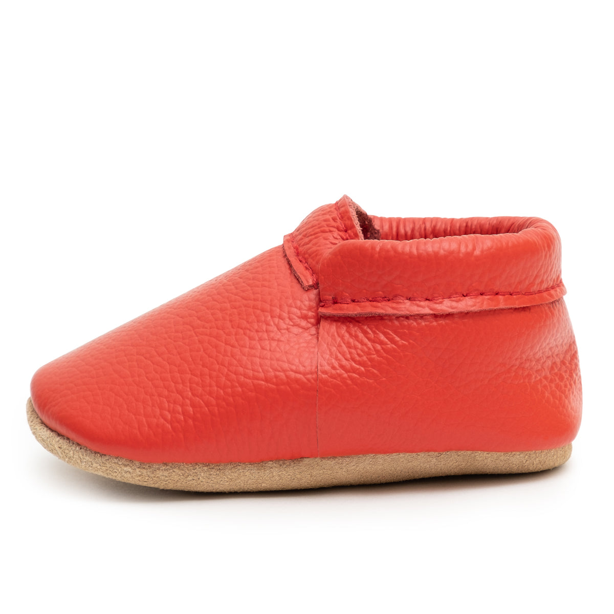 Fire Engine Fringeless Moccasins