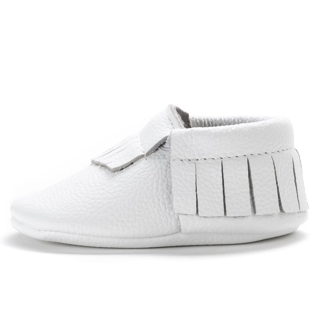 Pearl White Baby Moccasins