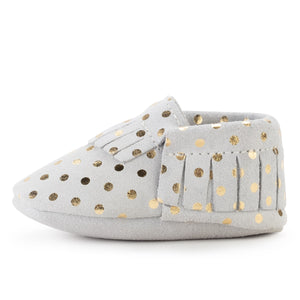 Champagne Baby Moccasins