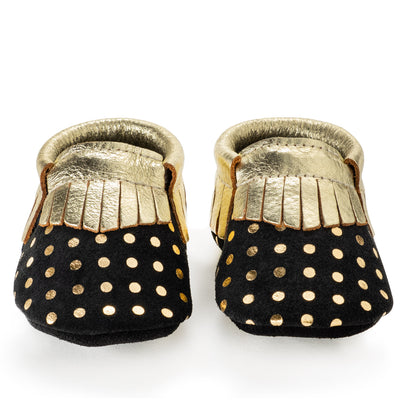 a95deb31ffb8 Rose Gold Baby Moccasins, Genuine Leather | BirdRock Baby