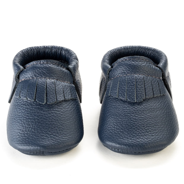 Navy Baby Moccasins 1