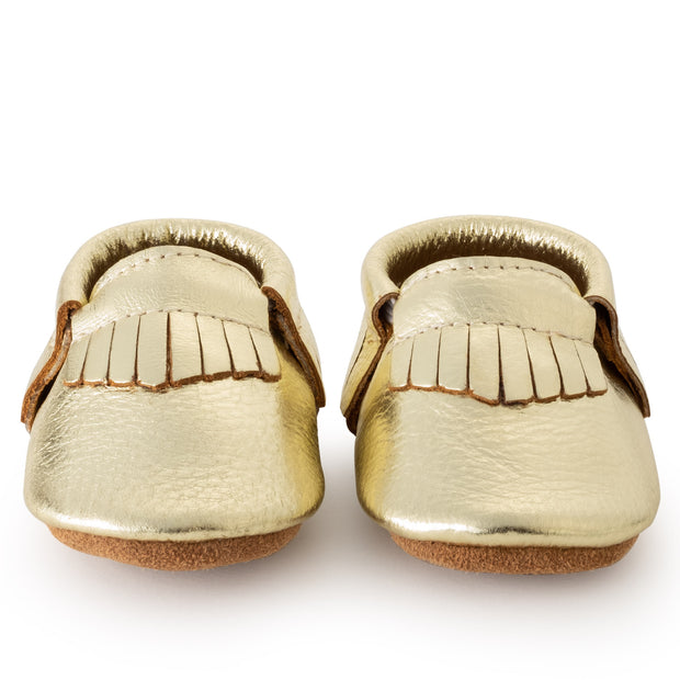 Gold Baby Moccasins 1
