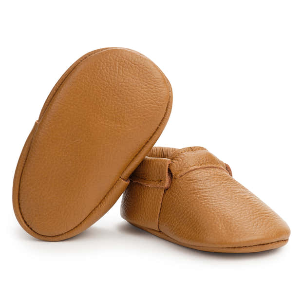 Classic Brown Fringeless Moccasins 1