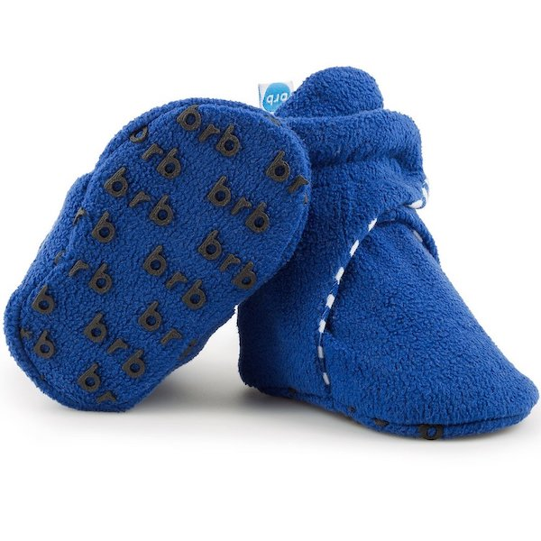Anchor Blue Baby Booties 1